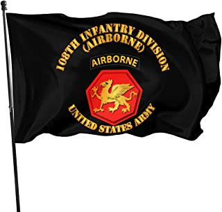 108th Infantry Division Airborne Garden Flags 3 X 5 in Indoor&Outdoor Decorative Home Fall Flags Holiday Decor