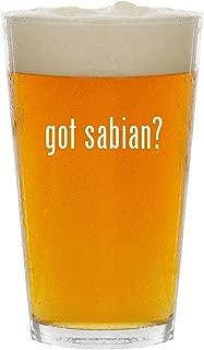 got sabian? - Glass 16oz Beer Pint