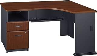 Bush Business Furniture Series A Single 2 Drawer Pedestal Corner Desk in Hansen Cherry