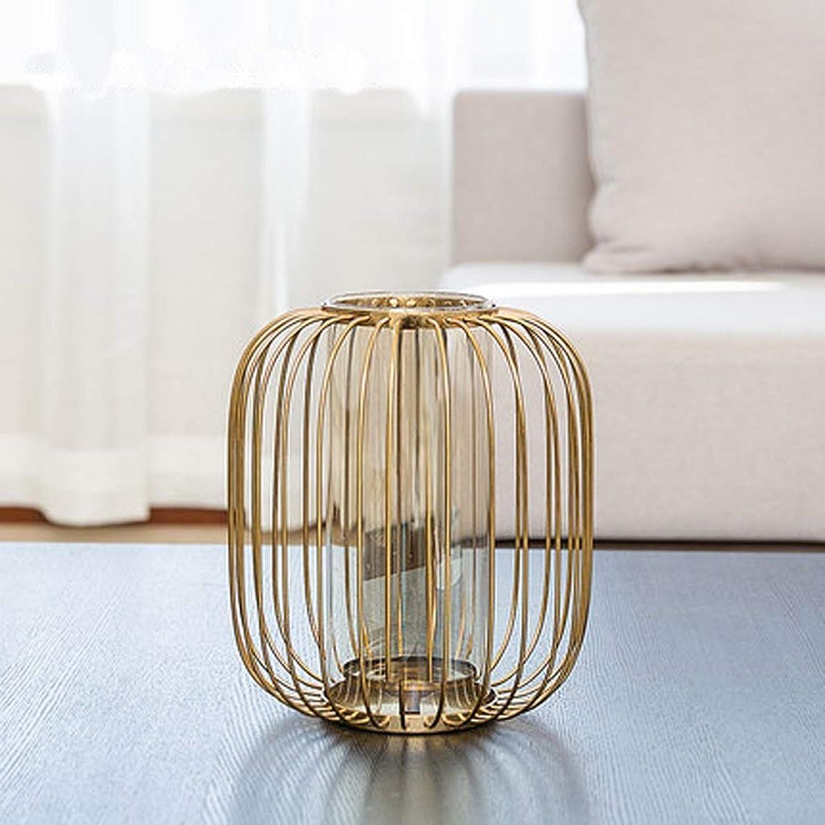 なんでも散る添加剤花器 シンプルさがエレガンス 材料ユニークなインテリアデザインガーデン装飾サイズシンプルな装飾メタルを明らかに (Size : 20cm*26cm)
