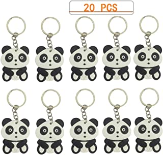 Baby Chinese panda Keychains 20 Pieces for Chinese Theme Party Favors, Birthday Party Supplies,School Carnival Reward, Party Bag Gift Fillers
