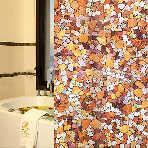 Xrrxy glas in lood raamfolie privacy mat decoratief glas film statische Cling niet-klevende raamsticker, voor thuis keuken woonkamer badkamer thuiskantoor