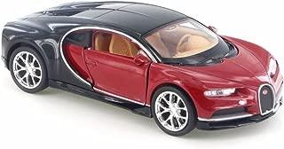 Welly Bugatti Chiron, Red w/ Black 43738D - 4.5