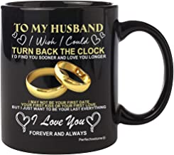 Best PerfectoStore Husband Mugs from Wife for Wedding Anniversary, Birthday, Fathers day or Christmas - To my Husband i wish i could turn back the clock, Couples Wifey and Hubby, Mr and Mrs coffee cup 11oZ Reviews