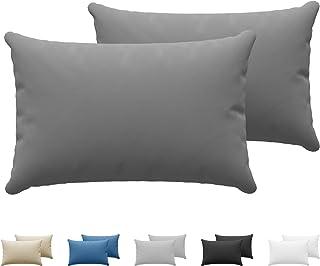 Dreamzie - Set de 2 x Taie Oreiller 50 x 70 cm - Anthracite - 100% Premium Coton Jersey 150gsm - Housse de Coussin Résista...