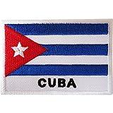 Aufnäher mit Kuba-Flagge, zum Aufbügeln oder Aufnähen, Stoff, Jacke, Jeans, Tasche, bestickt, Karibikabzeichen