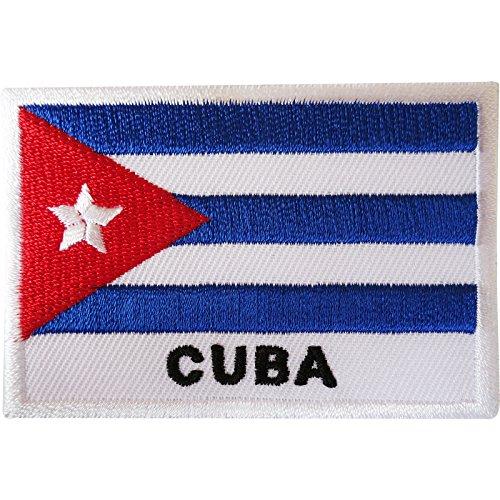 Bandera de Cuba parche hierro/sew en gamuza chaqueta Jeans bolsa bordado insignia de Caribe