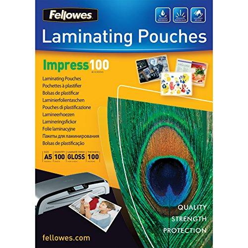 Fellowes 5351002 - Pack de 100 fundas para plastificar, A5,