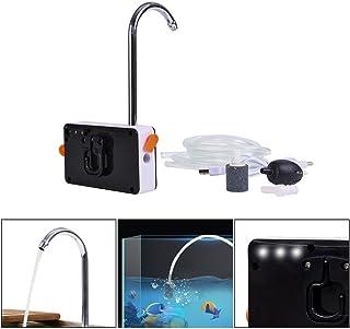LIXADA エアーポンプ ミニ 水族館 USB充電式ポンプ 酸素ポンプ 池の通気装置 低騒音 効率的に水族館 水槽用