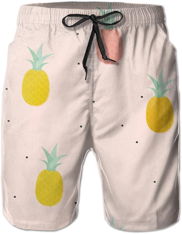 390987855c Mens colorful &cute Pineapples Pattern Pattern Pattern Board Shorts ...