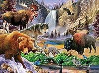 大人のジグソーパズル2000ピースの大きなジグソーパズルイエローストーン野生動物挑戦的なゲームおもちゃギフト子供10代の家族ジグソー 70 X 100cm