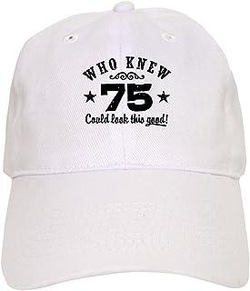 8102409b1 CafePress - Funny 75Th Birthday - Baseball Cap with Adjustable Closure,  Unique Printed Baseball Hat