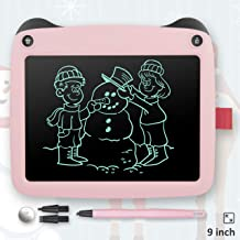 """LCD Writing Tablet for Kids, 9"""" Cute Panda Doodle Board Drawing Pad Reusable Erasable E-writer With Full Erase Mode, Lock Screen Function, Smart Stylus, Gift for Kids Adults Home School Office (Pink)"""