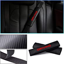 Longzhimei for TOYOTA Auris Aygo C-HR Corolla Hilux Prius RAV4 Seat Belt Cover Carbon Fiber Texture Car Safety Seat Belt Pads Shoulder Strap Cover with Reflective Sticker 2pcs