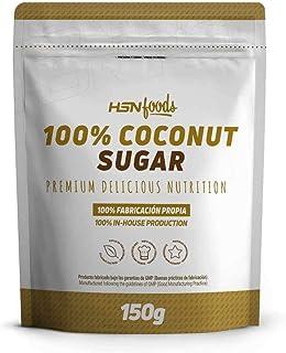 Azúcar de Coco de HSN | 100% Puro, Para Recetas Sanas, Edulcorante natural | Vegano, Sin Gluten, Sin Lactosa, Sin Aditivos, Sin Refinar, 150gr