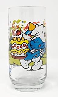 1983 Hardees Baker Smurf 12 oz. Collector Glass Tumbler