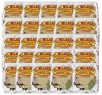 El Milagro Classic Corn Maiz Natural Soft Tortillas - 25 Pack