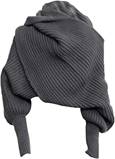 Loosnow Unisex Fashion Knitted Scarf with Sleeves Long Wraps Shawls for Winter Autumn