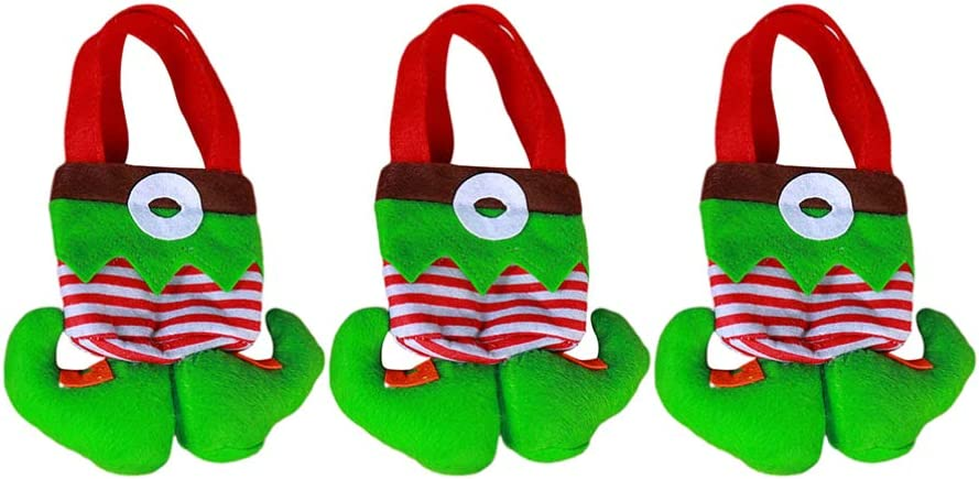 KESYOO 3Pcs Christmas Elf Under blast sales Candy favorite Cookie Boots Gift Bag Xm