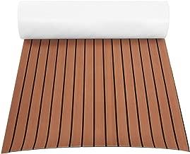 GOTOTOP Non-Slip Boat Flooring Decking Pad (35in x 94in x 0.24in), EVA Foam Faux Teak Marine Fit for Yacht