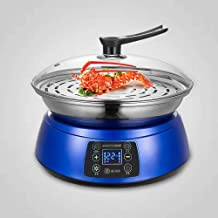 DIAOD Large Capacity electric steamer food steamer pot electric lunch box heater and steam pot (Color : Blue)
