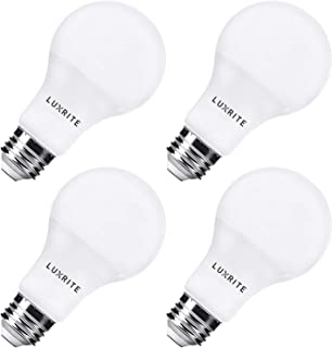 Pack of 4 Luxrite LED Light Bulb 100W Equivalent, 14W A21 Bulb, 4000K Cool White, 1500 Lumens, Dimmable, 100 Watt Light Bulb, UL Listed, Damp Rated, E26 Base
