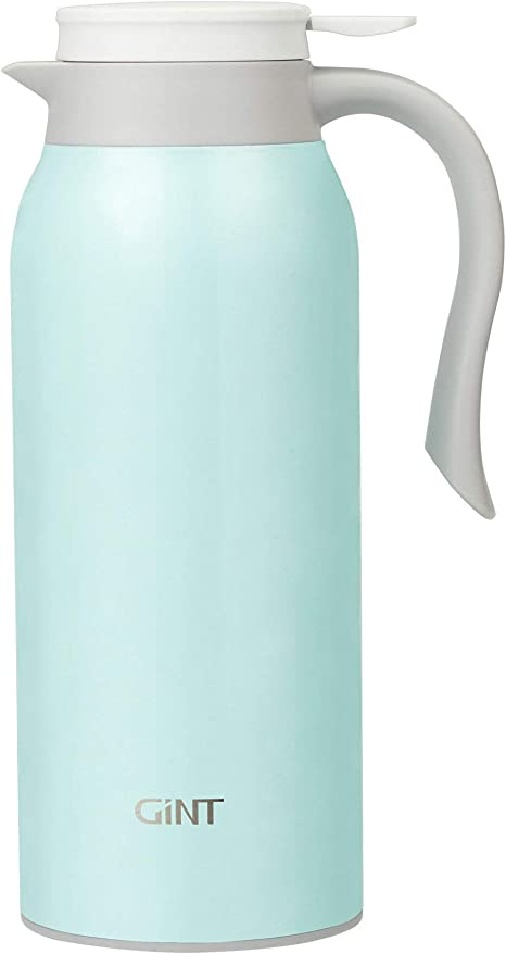 GiNT 51 Oz Stainless Steel Thermal Coffee Carafe, Double Walled Vacuum Thermos, 12 Hour Heat Retention, 1.5 Liter Tea, Water, and Coffee Dispenser, Green