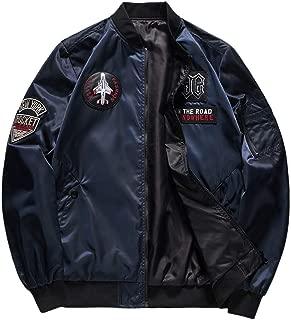 Zackate Mens Casual Lightweight Jacket Softshell Flight Bomber Jacket Varsity Thicken Coat M-4XL Reversible