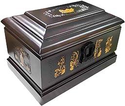 JIADUOBAO-urn Urns for Human Ashes Adult, Cremation Urn Woodcarving Natural Bamboo Pattern Fine Texture(850 Cu.in) JIADUOB...