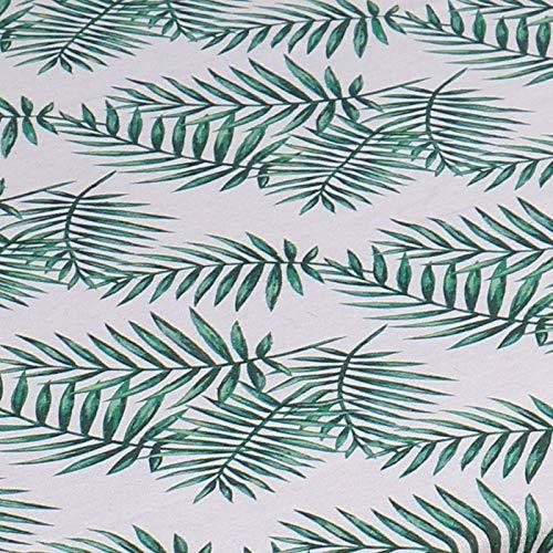 KUATAO Mantel de lino de imitación Harry Hojas de agua Mantel de mesa de café hojas