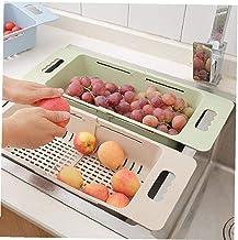 Rétractable Type de tiroir de Cuisine Boîte de Rangement Multifonctions évier égouttoir légumes Panier égouttoir Holder Or...