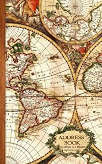 Address Book: Antique Map Gifts / Presents ( Small Telephone and Address Book ) (Address Books - Travel & World Cultures)