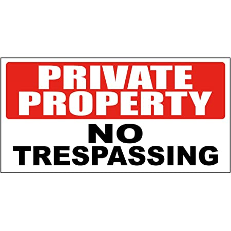 30x20 cm economic Plate private property no trespassing 15x20 cm