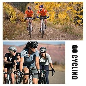 Conjunto de Ropa de Ciclismo para Hombre, Maillot Ciclismo Corto y 5D Almohadilla De Gel Culotte Pantalones Cortos, Malla Transpirable y Cremallera Completa para Deportes al Aire Libre Ciclo Bicicleta