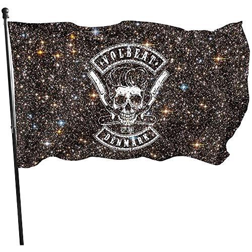 Dem Boswell Volbeat Garden Flag, Dekorationen für Inneneinrichtungen House Yard Outdoor Party Supplies 3X5 Foot (150 X 90 cm