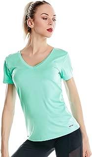 Cooling Tech Shirts for Women Short Sleeve Deep V Neck T Shirts