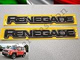 Coppia Scritte Stemmi Loghi Jeep Renegade Laterali Originali destro e sinistro
