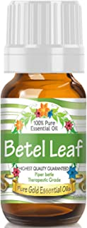 Pure Gold Betel Leaf Essential Oil, 100% Natural & Undiluted, 10ml