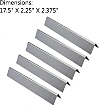 GasSaf 17.5inch Flavorizer Bar Replacement for Weber 7620, Genesis 300, E310, S310, E330, EP-330 Series Grill, 5-Pack Stainless Steel Flavor Bar (L17.5 x W2.25 x H2.375)