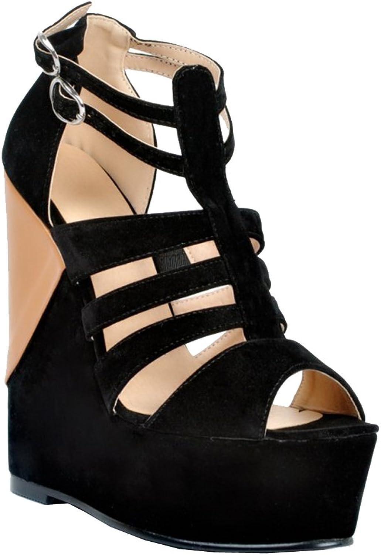 CASSOCK Ladies Handmade G-Strap BFCM Style Wadge Heel Buckle Strap Fashion Sandals
