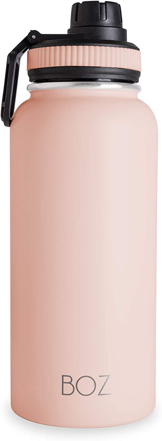 Vacuum Double Wall Insulated 1 L // 32oz BOZ Stainless Steel Water Bottle XL BPA Free Wide Mouth