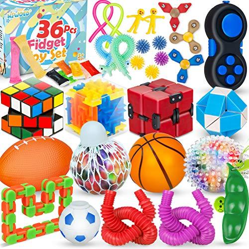 36 Pcs Sensory Fidget Toys Pack,Fidgets Box Stress Relief and...