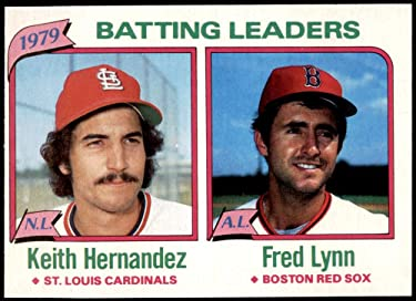 1980 Topps Regular (Baseball) card#201 K Hernandez/F Lynn of the - Undefined - Grade Excellent