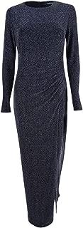 Womens Knit Gown Dress blksilver 6