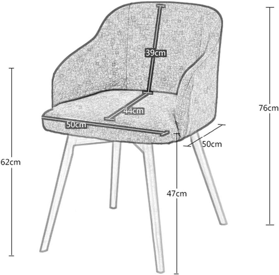 ALY Chaise de Salle à Manger Nordique en Cuir Artificiel Ergonomique Design Chaise en Bois Massif Salon Fauteuil Fauteuil de Restaurant hôtel canapé Chaise Light Gray