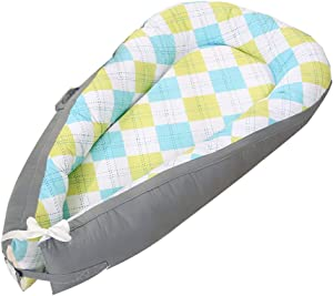 Crib for Bedroom  Multifunctional Portable Breathable Skin Friendly Newborn Baby Lounger for Boys and Girls 97cm 46cm A