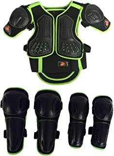 Kids Motorcycle Armor Suit Chest Spine Back Protector Shoulder Arm Elbow Kneepad