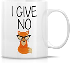 Retreez Funny Mug - I Give No Fox 11 Oz Ceramic Coffee Mugs - Funny, Sarcasm, Sarcastic, Motivational, Inspirational birthday gifts for friends, coworkers, siblings, dad or mom
