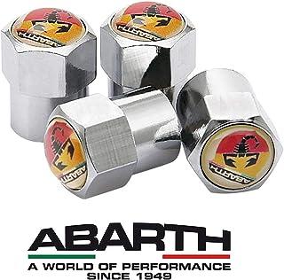 ABRTH RacePace Lot de 4 Bouchons de Valve Anti-poussi/ère Noirs. 500 Qubo Doblo Panda Bravo 124 Spider Cupra Tipo Multipla Strada Panda