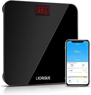 Bilancia Digitale con App, Liorque Bilancia Pesa Persona Digitale per iOS e Android per Tutta la Famiglia, Sensore Automat...